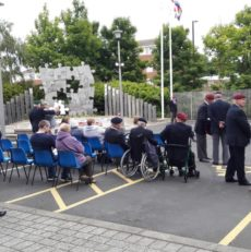 Operation Veteran at the Falklands Memorial in Killingworth 2019